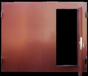Гаражные ворота вид спереди