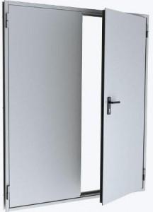 Двустворчатая равнопольная дверь