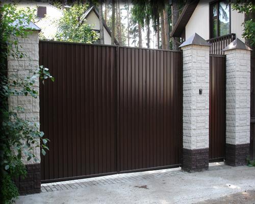 Распашные ворота в Вологде